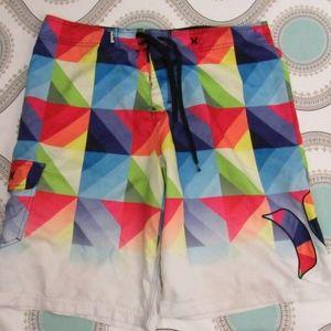 Hurley Men's 'Fade' Swim Trunks/Board Shorts 36